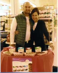 Jill and Regi Brack at Shoprite in Norwalk debuting GLOW!